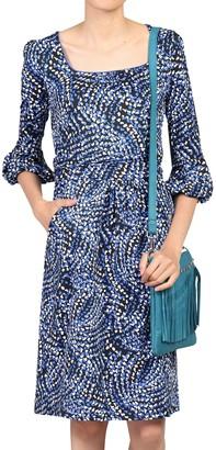Jolie Moi Balloon Sleeve Dress, Blue/Multi