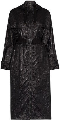 Moncler Bouteille embossed logo raincoat