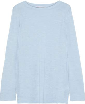 Agnona Melange Cashmere And Silk-blend Top