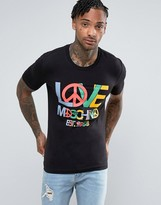 Love Moschino T-shirt With Peace Logo