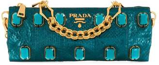 Prada Pre-Owned glass embellished metallic shoulder bag