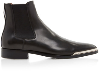 Givenchy Dallas Cap-Toe Leather Boots