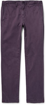 Michael Kors - Slim-fit Garment-dyed Stretch-cotton Twill Chinos