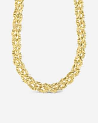 Express Sterling Forever Chunky Mesh Braided Chain Necklace