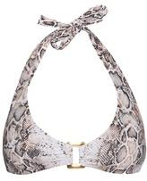 Heidi Klein Tobago snake-print bikini top