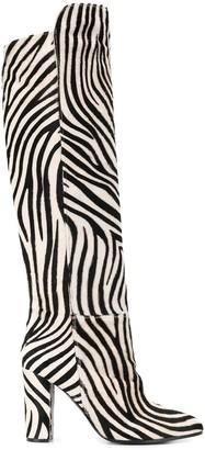 Via Roma 15 Zebra Pattern Boots