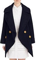 Burberry X Barneys New York Women's Oversized-Collar Shearling Peacoat