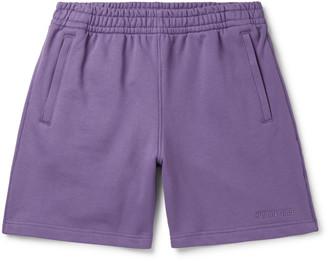 adidas Consortium - Pharrell Williams Basics Logo-Embroidered Loopback Cotton-Jersey Shorts - Men - Purple