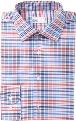 Nordstrom Rack Trim Fit Dobby Gingham Dress Shirt
