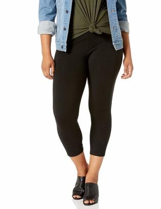 Hue Women's Plus Size Ultra Capri Leggings with Wide Waistband