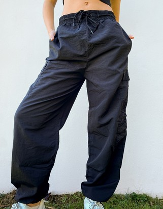 Russell Athletic cargo pants in black