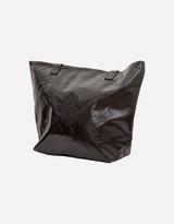 Metallic Black Hamsa Design Tote Handbag