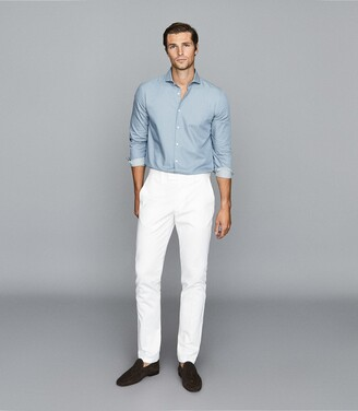 Reiss Darcy - Chambray Shirt in Light Blue