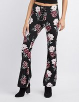 Charlotte Russe Lace-Up Flare Pants