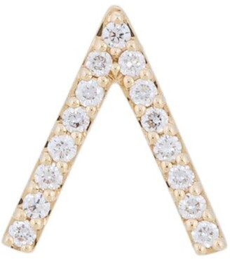 18kt gold ALINKA ID diamond stud earring