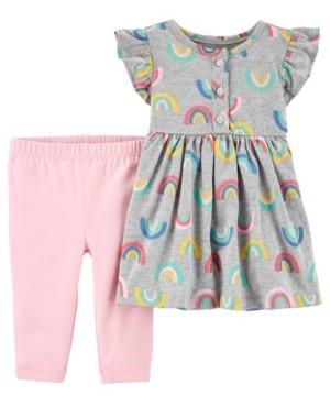 Carter's Baby Girls Rainbow Dress and Legging Set, 2 Pieces