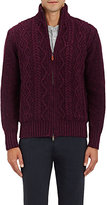 Inis Meain Men's Cable-Knit Wool-Cashmere Sweater