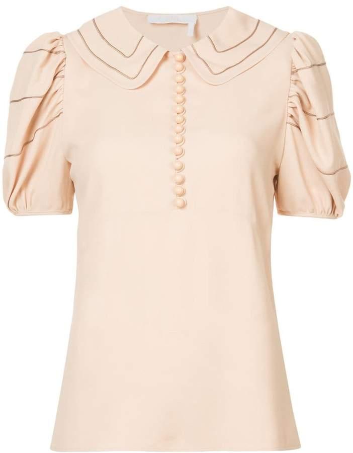 Chloé peter pan collar blouse