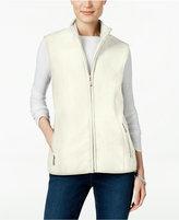 Karen Scott Petite Fleece Vest, Only at Macy's