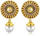 INAYA Copper Elegant Yellow Plated Earrings Set With Chaton Stone, 1 pair