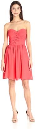 Minuet Women's Strapless Pleated Top Dress
