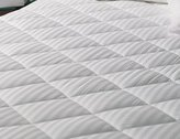 "Elegant Linen Luxurious 350-Thread Count Down Alternative, Super Plush Ultimate Damask Quilted Mattress Pad (Crib 27"" x 52"")"