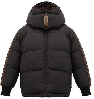 Fendi Reversible Ff-logo Technical Puffer Jacket - Womens - Black Multi