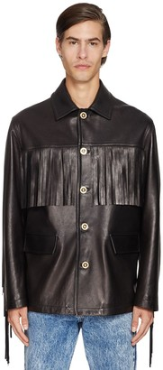 Versace Fringed Leather Jacket