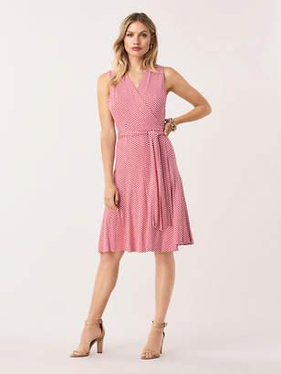 Diane von Furstenberg Jasmine Jersey-Blend Sleeveless Wrap Dress