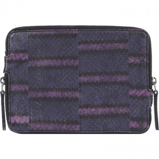 Lanvin Purple Python Small bags, wallets & cases