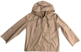 Brunello Cucinelli Ecru Leather Coat for Women