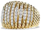 David Yurman Tempo Ring with Diamonds in 18K Gold