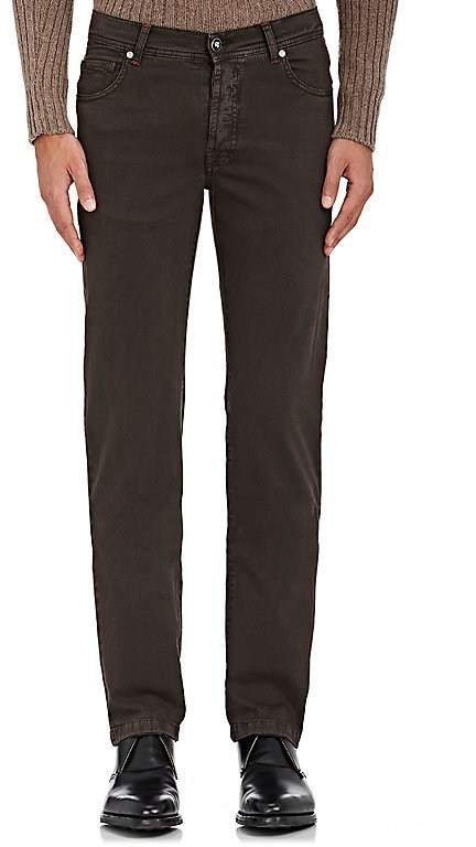 Marco Pescarolo Men's Stretch Cotton-Cashmere Five-Pocket Pants