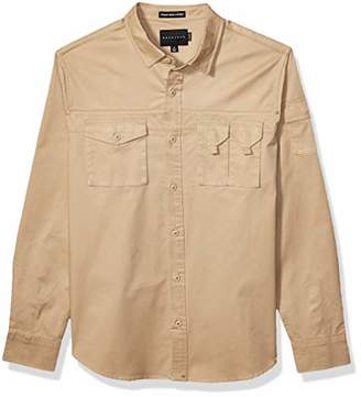 Sean John Men's Long Sleeve Utility Flight Shirt