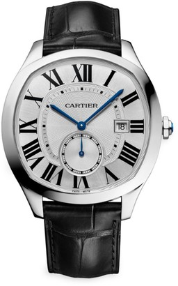 Cartier Drive de Stainless Steel & Black Alligator-Strap Watch