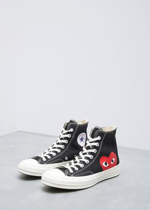 Comme des Garcons High Top Women's Converse Chuck Taylor Shoes in Black Size 10 Cotton/Rubber Sole