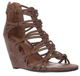 Mia Womens Dylon Open Toe Casual Strappy Sandals, Taupe/vintage Lizard, Size 6.0.