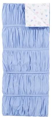 Pottery Barn Teen Hydrangea Pucker Up Heart Sleeping Bag, Hydrangea