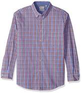 Haggar Men's Long Sleeve Poplin Buttondown Shirt With Stretch