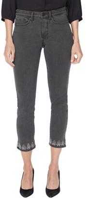 NYDJ Sheri Embellished Skinny Ankle Jeans