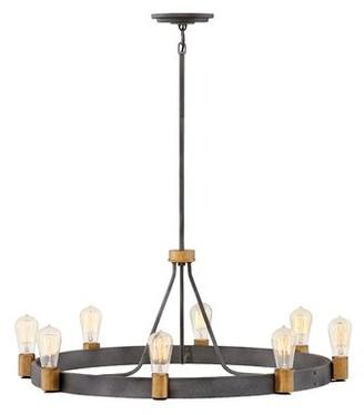 Silas Hinkley Lighting 8-Light Candle Style Wagon Wheel Chandelier Hinkley Lighting