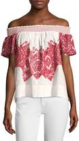 Plenty by Tracy Reese Women's Embroidered Cotton Top