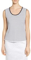 Ming Wang Women's Stripe Tipped Tank