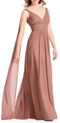 Jenny Packham Streamer Back Chiffon Gown