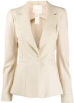 Thumbnail for your product : Gianfranco Ferré Pre-Owned 2000s Notched Lapels Slim-Fit Blazer