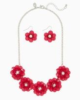 Charming charlie Pretty Gardens Necklace Set