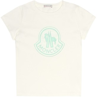 Moncler Enfant Embroidered cotton T-shirt