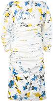 Salvatore Ferragamo ruched floral print dress - women - Silk/Cotton/Acetate - 40