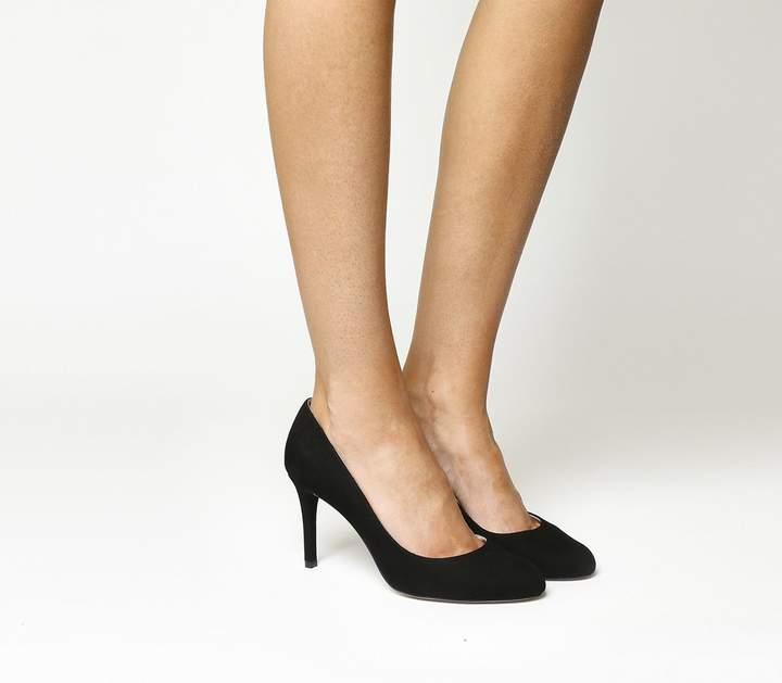e5996d77 Black Suede Round Toe Court Shoes - ShopStyle UK