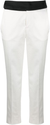 Pt01 Cropped Side Stripe Trousers